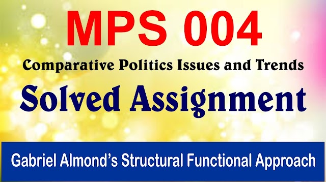 Gabriel Almond's Structural Functional Approach