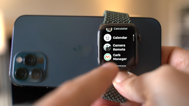sử dụng apple watch làm kính ngắm cho iphone