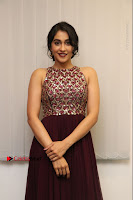 Actress Regina Candra Latest Stills in Maroon Long Dress at Saravanan Irukka Bayamaen Movie Success Meet .COM 0007.jpg