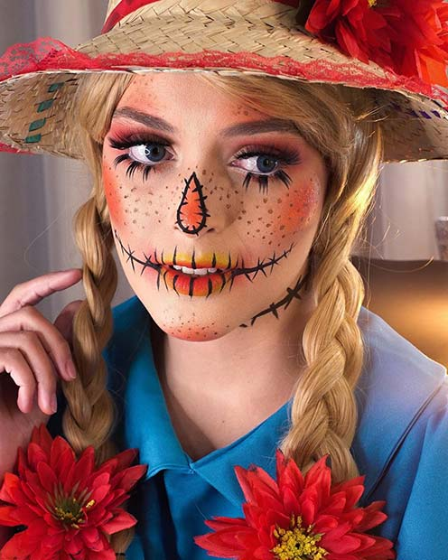 22+ Latest Scarecrow Halloween Makeup Ideas