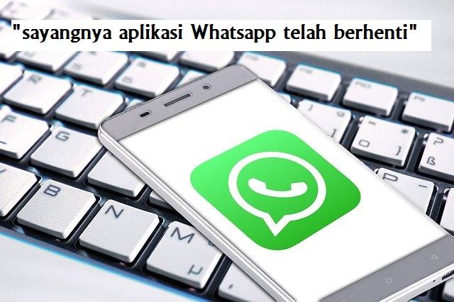 "sayangnya whatsapp telah berhenti"""