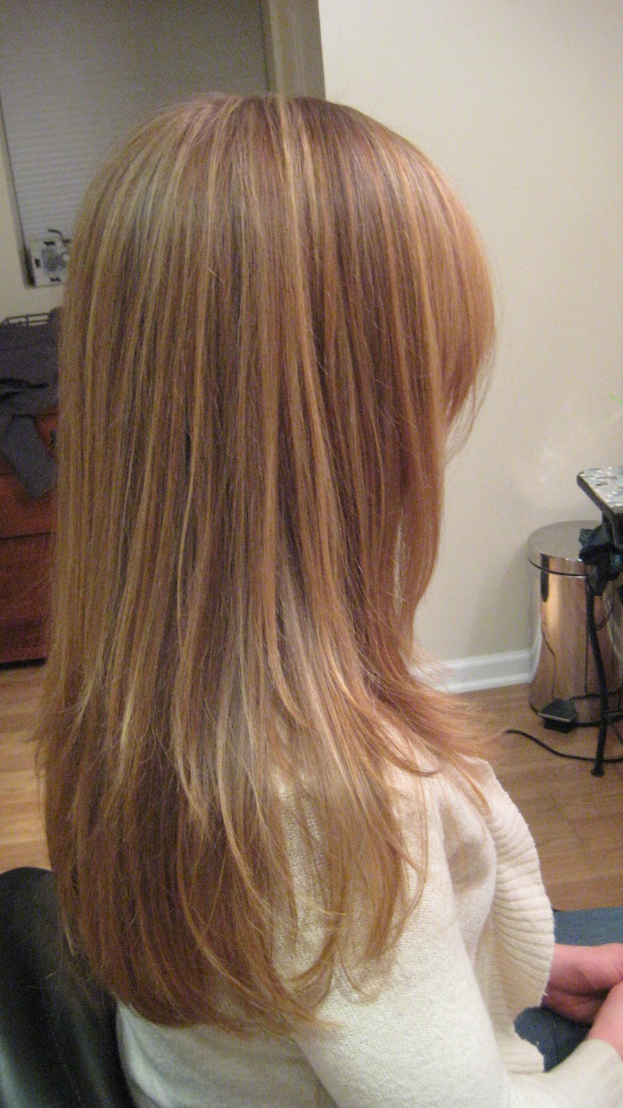 Hairstylist How-to: Red Hair With Blonde Highlights