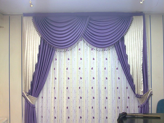 purple curtain ideas for modern living room designs