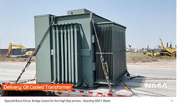 New power transformer arrives in Boca Chica (Source: @NASASpaceflight)