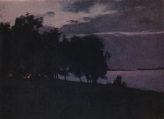 Исаак Ильич Левитан - Костер. 1890-е
