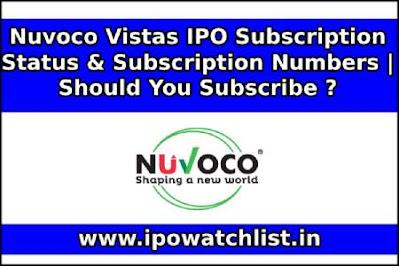 Nuvoco Vistas IPO Subscription Status & Subscription Numbers