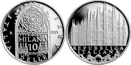 Italy 10 euro 2019 - Cathedral of Milan