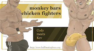 http://ballbustingboys.blogspot.com/2019/02/monkey-bar-chicken-fighters-cody-meets.html
