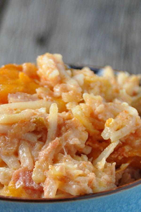 Crock Pot Cheesy Salsa Hashbrown Casserole