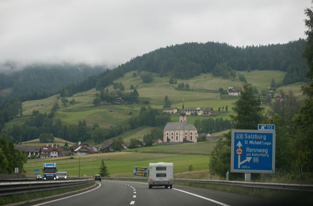 Driving through Austria