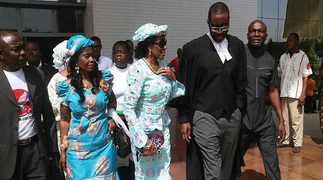 Nana Konadu with Lawyer Ace Ankomah in court