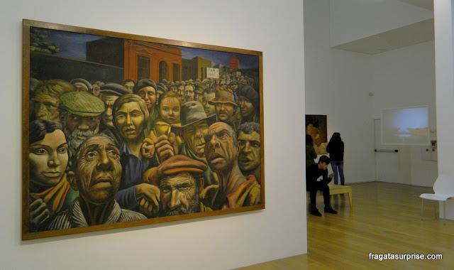 """""""Manifestação"""", obra de Antonio Berni no Museu de Arte Latino-Americana de Buenos Aires - Malba"""