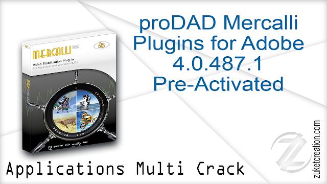 proDAD Mercalli Plugins for Adobe 4.0.487.1 Pre-Activated