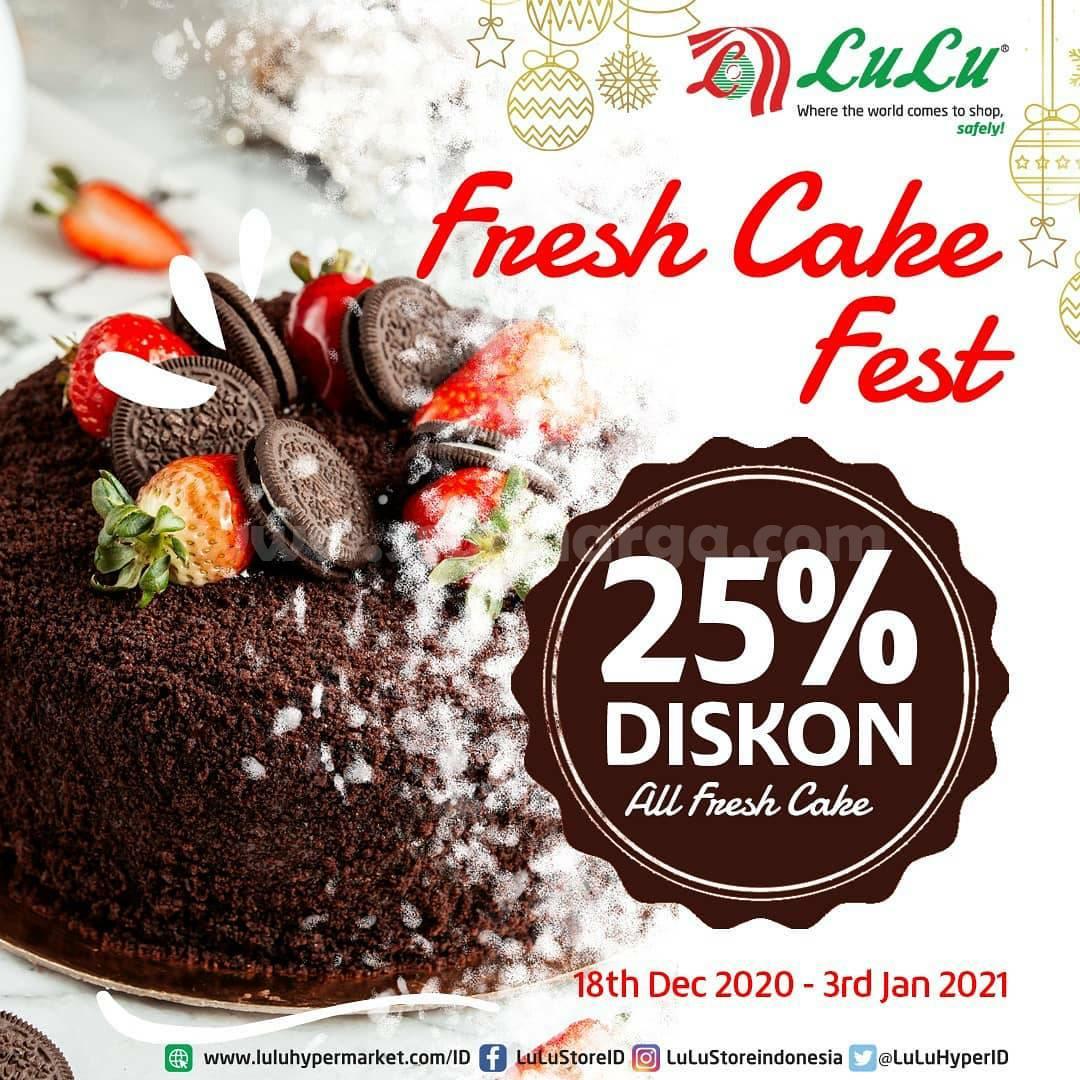 LuLu Supermarket Promo Fresh Cake Fest – Diskon 25% All Fresh Cakes