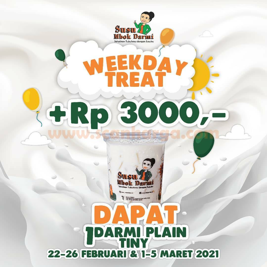 Susu MBOK DARMI Promo Weekday Treat + Rp 3000 GRATIS 1 Tiny Plain