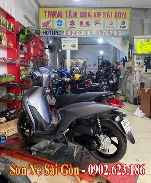 Mẫu xe Yamaha Janus sơn màu xám bóng cực đẹp tại TP.HCM