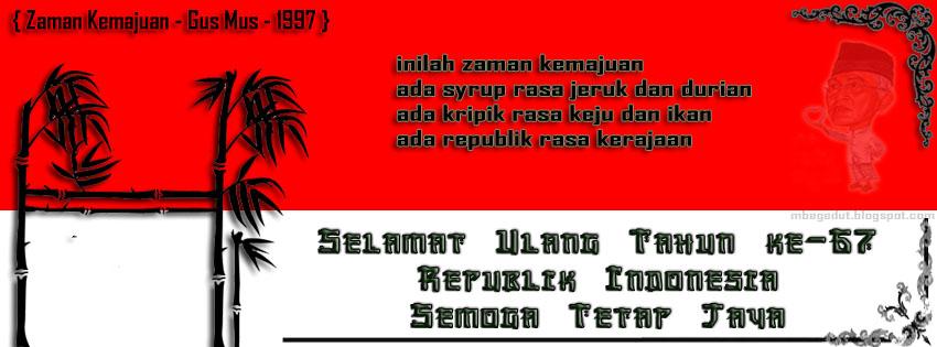 Foto Sampul FB Hari Kemerdekaan Indonesia Ke 67 Tahun