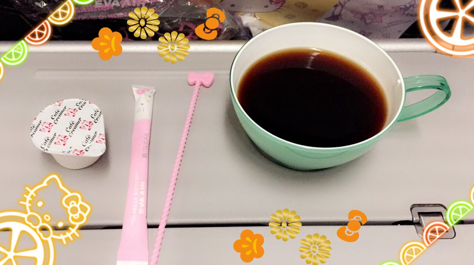 A Sip Of Your Coffee Or Tea Eating With The Colorful Utensils Cleaning Up Cooling Wet Napkin All Amenities Are Embellished Hello Kitty