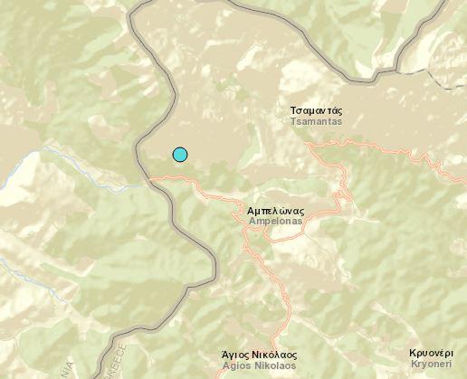 Θεσπρωτία: Σεισμική δόνηση πριν λίγο στα Ελληνοαλβανικά σύνορα