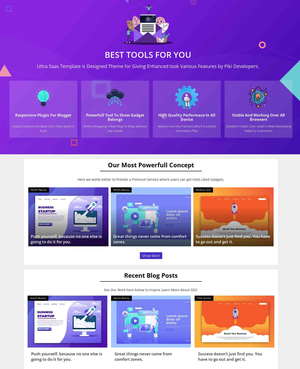 Ultra Saas  Professional And  Elegant Blogger Template