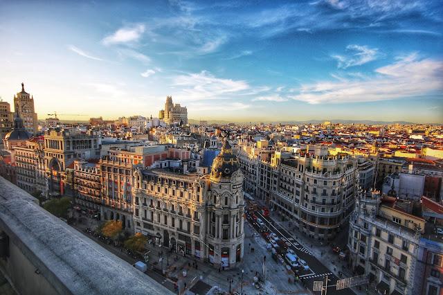 Do Aeroporto de Madrid para o centro da cidade