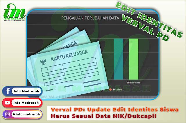 Verval PD: Update Edit Identitas Siswa Harus Sesuai Data NIK/Dukcapil