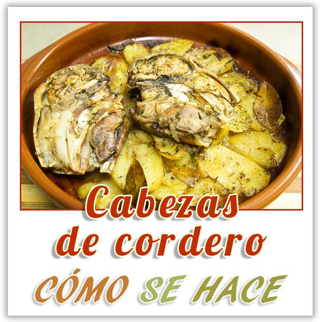 RECETA DE CABEZAS DE CORDERO AL HORNO