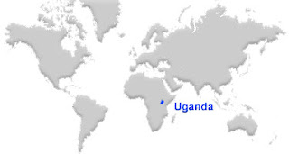 image: Uganda map location