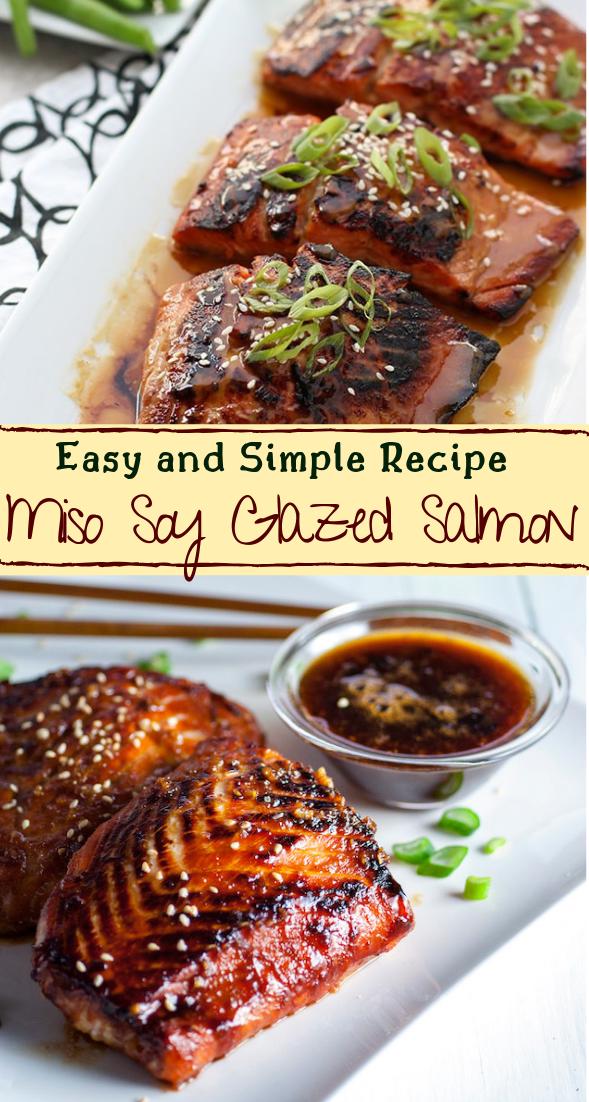 Miso Soy Glazed Salmon #dinnerrecipe #food #amazingrecipe #easyrecipe