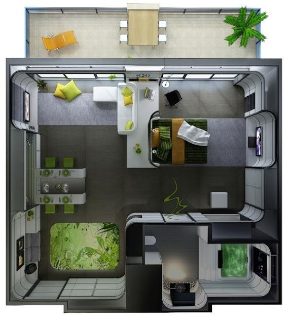 desain rumah studio