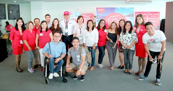 Davao Digital Influencers at AirAsia Send Off Ceremonies on April 22, 2017