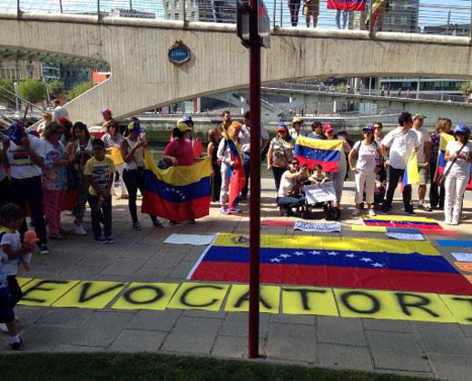 La jornada de protesta también se realizó en el exterior