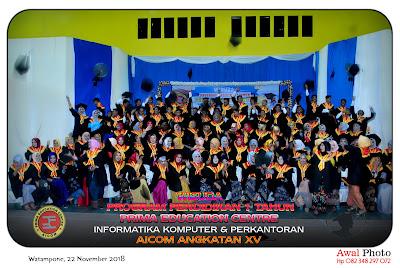 FOTO ROMBONGAN WISUDA PROGRAM PENDIDIKAN 1 TAHUN ANGK. 15