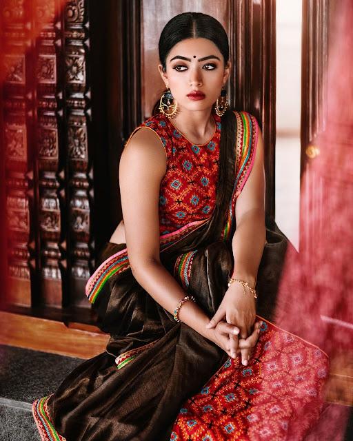 rashmika mandanna photos hd saree