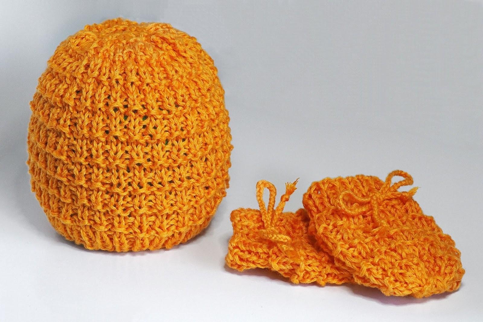 Babystrickset Mütze und Handschuhe einfache Anleitung für Anfänger