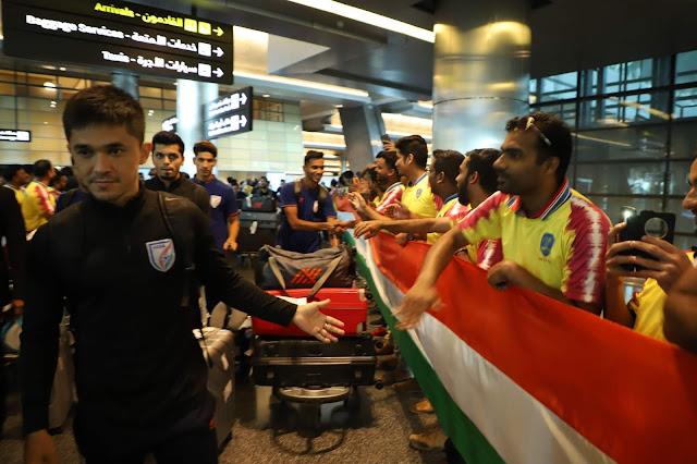 Sunil Chhetri at Doha Airport