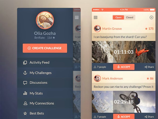 App PSD for IOS