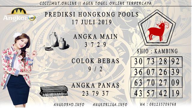 PREDIKSI HONGKONG POOLS 17 JULI 2019