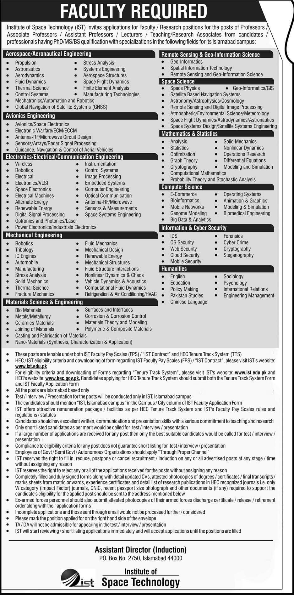 Faculty Staff Application Form jobtoday.pk