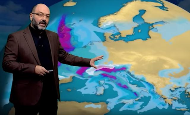 Πρόγνωση του καιρού μέχρι το Σαββατοκύριακο από τον Σάκη Αρναούτογλου (βίντεο)
