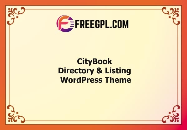 CityBook – Directory & Listing WordPress Theme Nulled Download Free