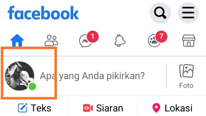 Cara membagikan link profil fb ke wa
