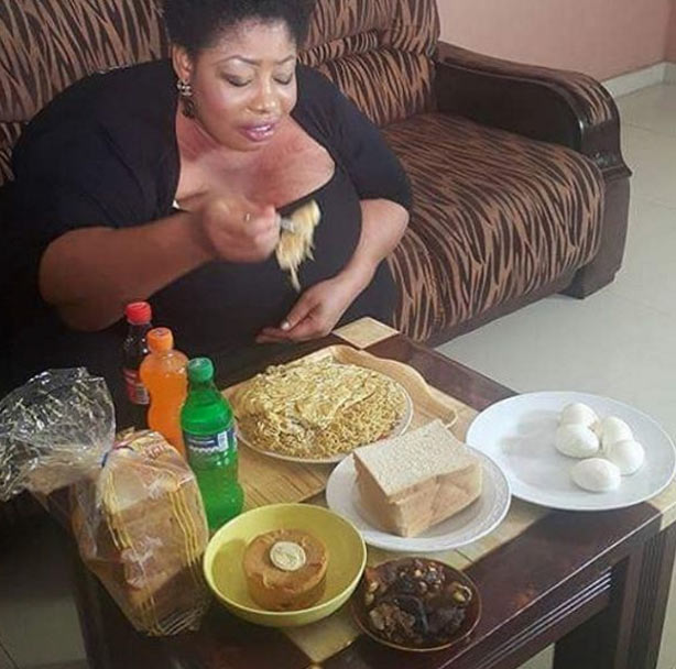 For this Buhari regime? Instagram comes for woman feasting heavily