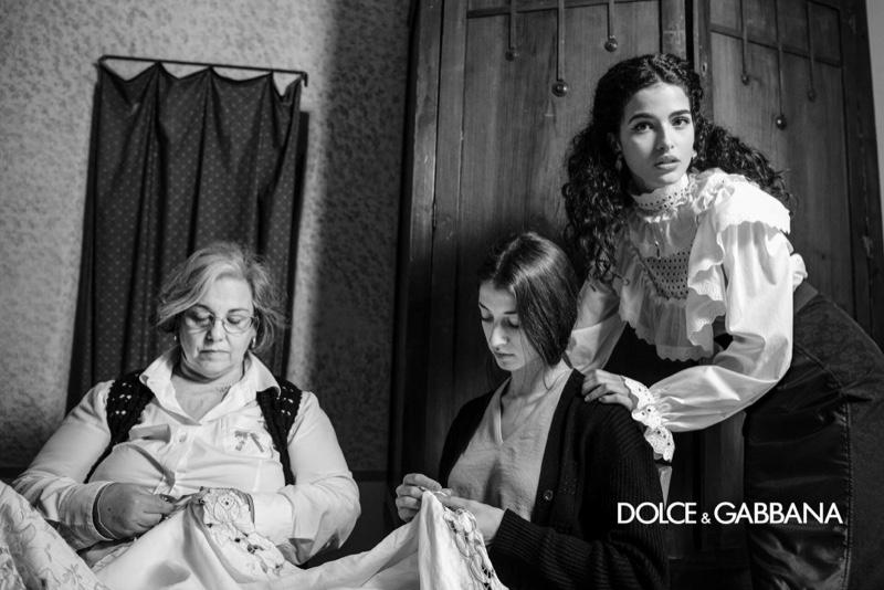 Chiara Scelsi stars in Dolce & Gabbana fall-winter 2020 campaign.