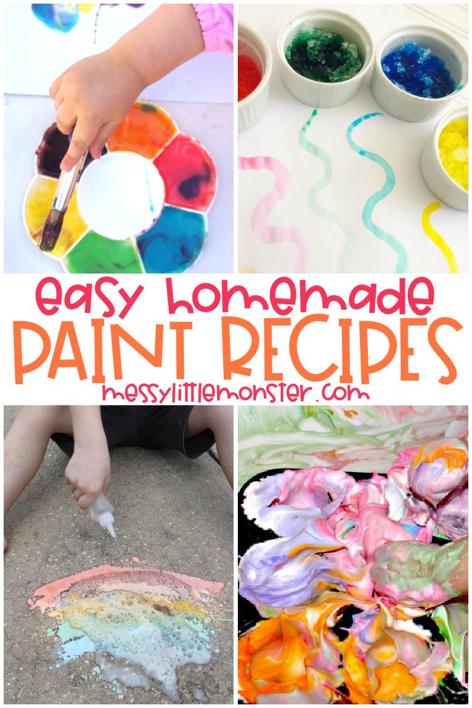 Easy homemade paint for kids