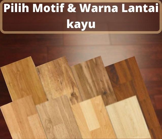 motif dan warna lantai kayu