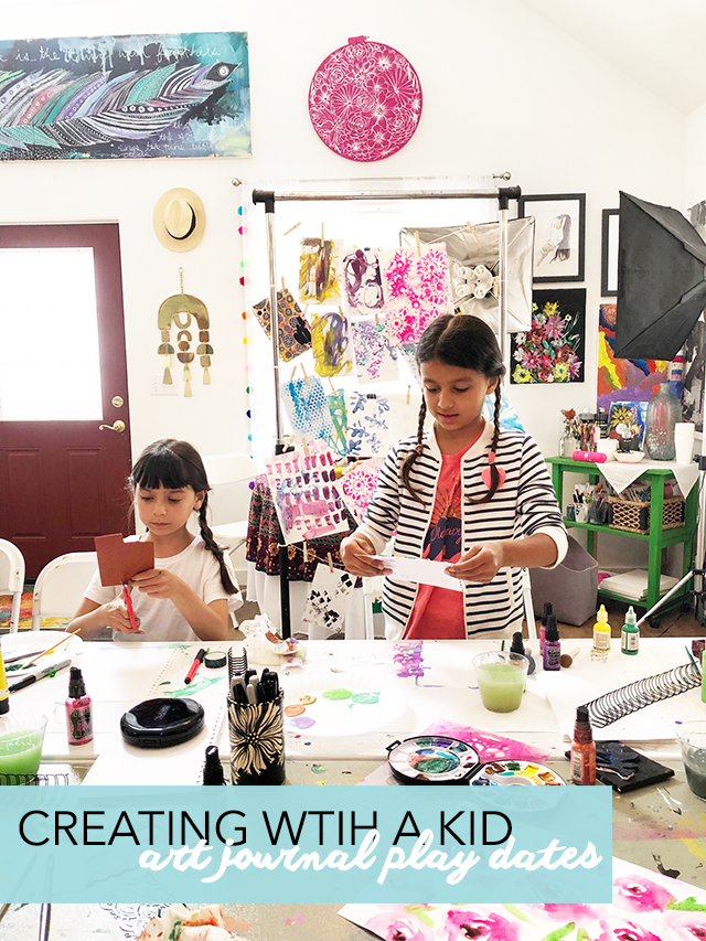 creating with a kid- art journal play dates