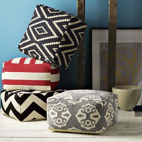 Rosa Beltran Design Diy Cube Ottoman Pouf