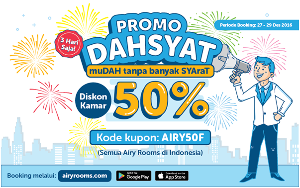 promo dahsyat aiiry rooms, promo airy rooms