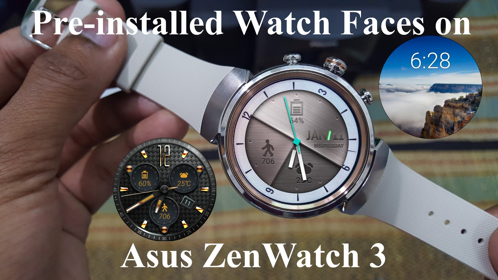 here are the pre installed watch faces on asus zenwatch 3. Black Bedroom Furniture Sets. Home Design Ideas